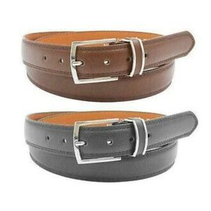 Leather Belts, Black & Brown 2 pack